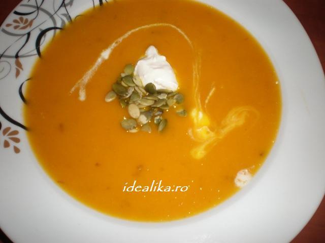 Reteta Supa crema de dovleac cu seminte