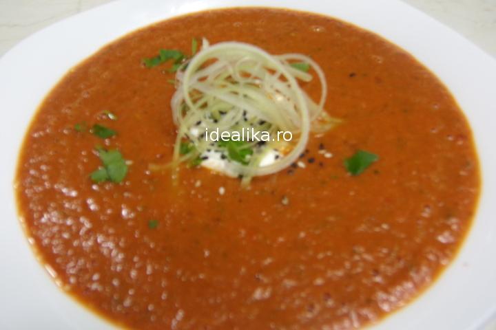 Supa de rosii coapte in cuptor