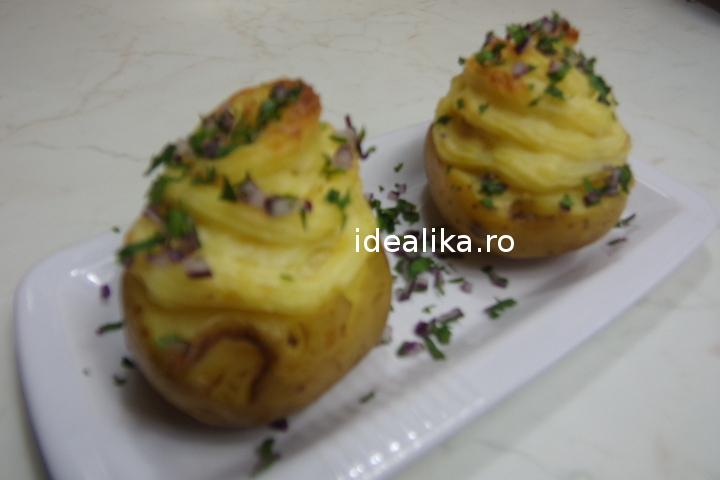 Cartofi umpluti la cuptor – Reteta video