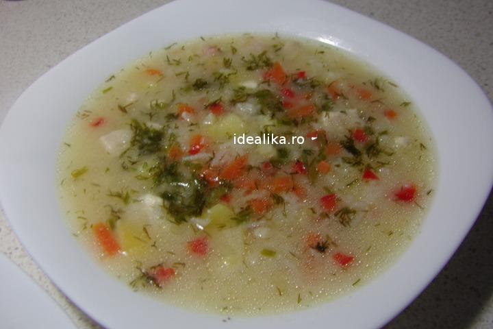 Supa de cascaval cu pui – Reteta video