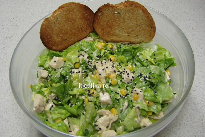Salata cu pui si maioneza – Reteta video