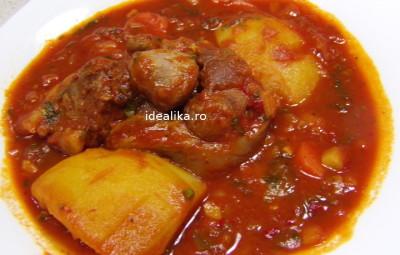 Rasol de porc cu sos si legume