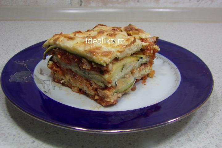 Lasagna de zucchini cu pui – Reteta video