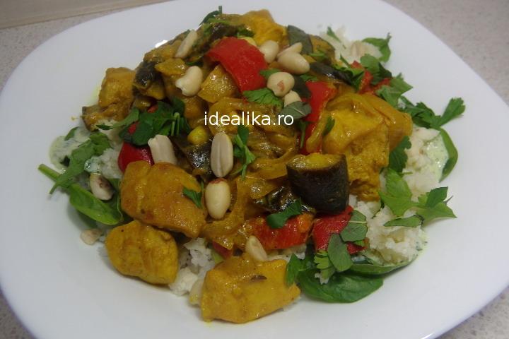 Curry de pui cu orez – Reteta video