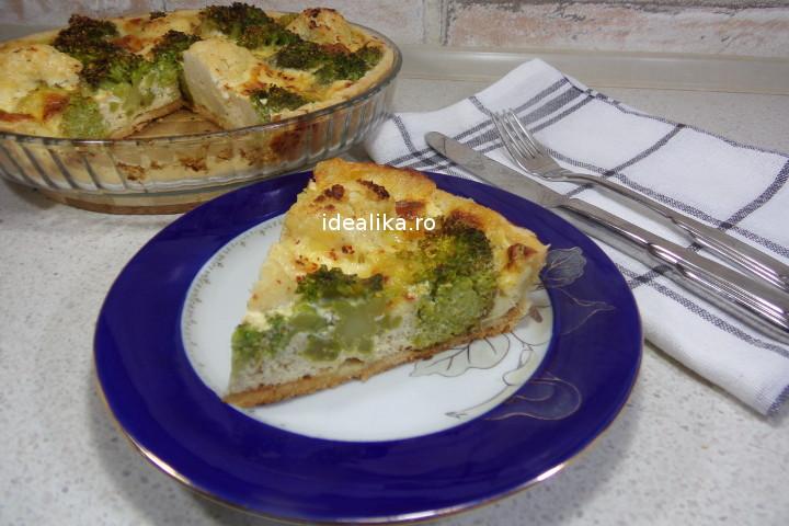 Quiche Lorraine – tarta sarata cu broccoli si conopida