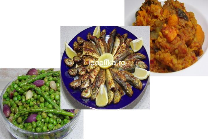 Peste la cuptor, Mazare cu arpagic si Tocanita de legume