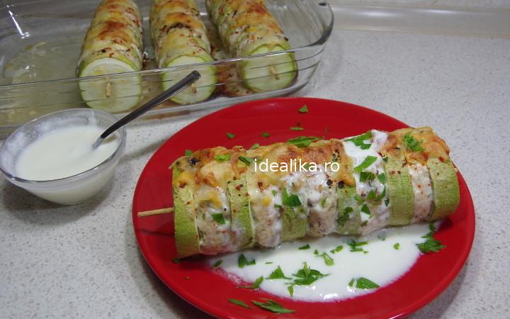 Shish Kebab cu pui si dovlecei