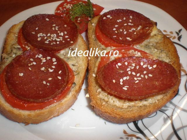 Mic dejun rapid la cuptor – Minipizza