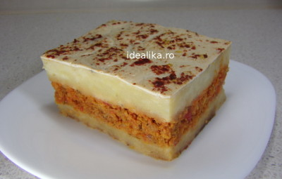 Musaka vegetariana / de post
